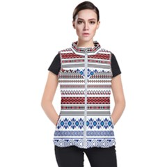 Illustration Ukrainian Folk Seamless Pattern Ornament Ethnic Ornament Border Element Women s Puffer Vest
