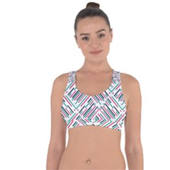 Abstract Colorful Pattern Background Cross String Back Sports Bra