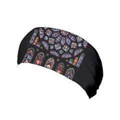 Chartres Cathedral Notre Dame De Paris Amiens Cath Stained Glass Yoga Headband by Wegoenart