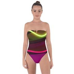 Neon Wonder Tie Back One Piece Swimsuit by essentialimage