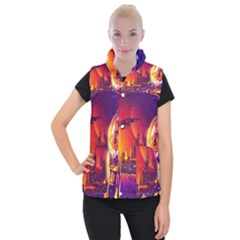 Far Future Human Colonization Women s Button Up Vest