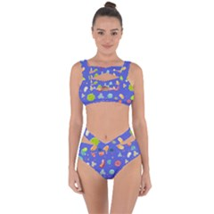 Virus Seamless Pattern Bandaged Up Bikini Set