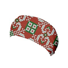 Grandma S Christmas Knitting Pattern Red Green White Colors Yoga Headband