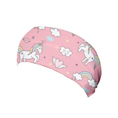 Cute Unicorn Seamless Pattern Yoga Headband
