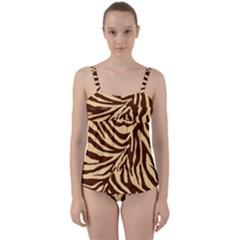 Zebra 2 Twist Front Tankini Set by dressshop