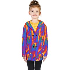Gay Pride Abstract Smokey Shapes Kids  Double Breasted Button Coat by VernenInkPride