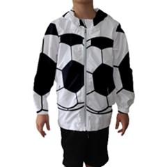 Soccer Lovers Gift Kids  Hooded Windbreaker by ChezDeesTees