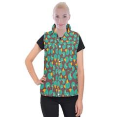 Vector-illustration-seamless-pattern-with-cartoon-duck Women s Button Up Vest