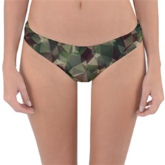 Abstract Vector Military Camouflage Background Reversible Hipster Bikini Bottoms by Vaneshart