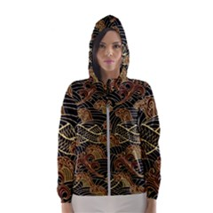 Oriental-traditional-seamless-pattern Women s Hooded Windbreaker