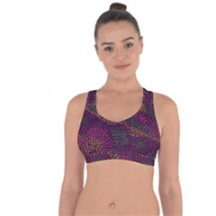 Colorful-abstract-seamless-pattern Cross String Back Sports Bra by Vaneshart