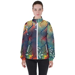 Flower Dna Women s High Neck Windbreaker by RobLilly