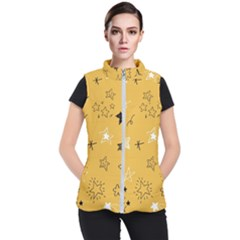 Various Stars Doodle Collection Vector Women s Puffer Vest by Bejoart