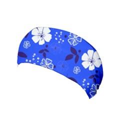Blooming Seamless Pattern Blue Colors Yoga Headband by BangZart