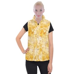 Cheese Slices Seamless Pattern Cartoon Style Women s Button Up Vest by BangZart