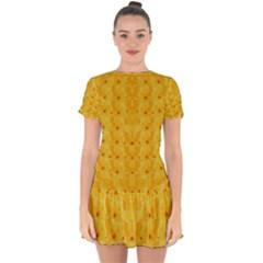Blossoms  So Free In Freedom Drop Hem Mini Chiffon Dress by pepitasart