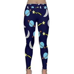 Space Pattern Colour Classic Yoga Leggings by Bejoart