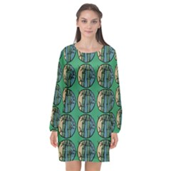 Bamboo Trees - The Asian Forest - Woods Of Asia Long Sleeve Chiffon Shift Dress  by DinzDas