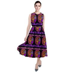 Inka Cultur Animal - Animals And Occult Religion Round Neck Boho Dress by DinzDas
