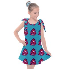 Little Devil Baby - Cute And Evil Baby Demon Kids  Tie Up Tunic Dress by DinzDas