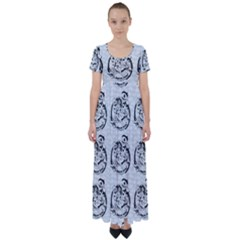 Monster Party - Hot Sexy Monster Demon With Ugly Little Monsters High Waist Short Sleeve Maxi Dress by DinzDas