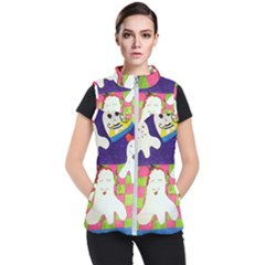 Circus Ghosts Sing Women s Puffer Vest