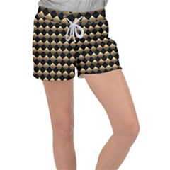 Golden Chess Board Background Velour Lounge Shorts