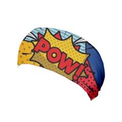 Pow Word Pop Art Style Expression Vector Yoga Headband by Amaryn4rt