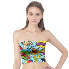 Comic Elements Colorful Seamless Pattern Tube Top by Amaryn4rt
