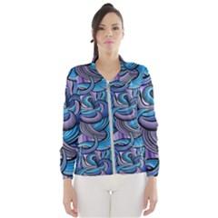 Blue Swirl Pattern Women s Windbreaker