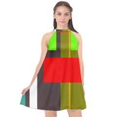 Serippy Halter Neckline Chiffon Dress  by SERIPPY