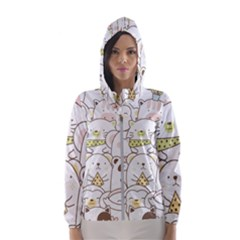 Cute-baby-animals-seamless-pattern Women s Hooded Windbreaker by Sobalvarro