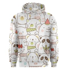 Cute-baby-animals-seamless-pattern Men s Core Hoodie by Sobalvarro