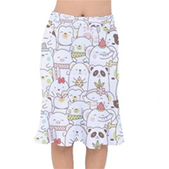 Cute-baby-animals-seamless-pattern Short Mermaid Skirt by Sobalvarro