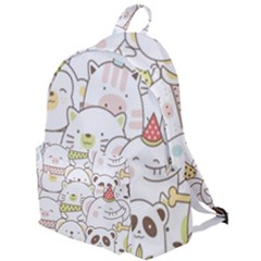 Cute-baby-animals-seamless-pattern The Plain Backpack by Sobalvarro
