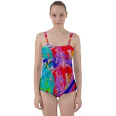 Crazy Graffiti Twist Front Tankini Set by essentialimage