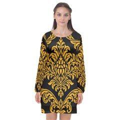 Finesse  Long Sleeve Chiffon Shift Dress
