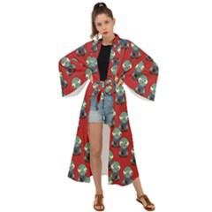 Zombie Virus Maxi Kimono by helendesigns