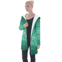Cross Crossing Crosswalk Line Walk Longline Hooded Cardigan by HermanTelo