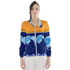 Fish Water Fisherman Women s Windbreaker by HermanTelo