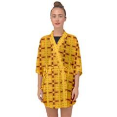 Digital Illusion Half Sleeve Chiffon Kimono by Sparkle