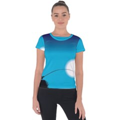 Fishing Short Sleeve Sports Top  by Sparkle