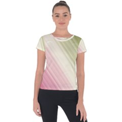 Pink Green Short Sleeve Sports Top  by Sparkle