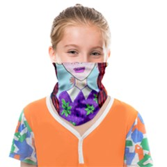 Purple Glasses Girl Wall Face Covering Bandana (kids) by snowwhitegirl