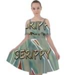 Sherellerippya15 Cut Out Shoulders Chiffon Dress