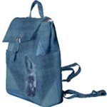 Collection: Chalk Pastel<br>Print Design: Foxy Denim<br>Style: Buckle Pocket Meduim Rucksack