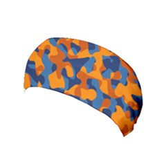 Blue And Orange Camouflage Pattern Yoga Headband