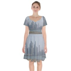 P1020022 Short Sleeve Bardot Dress