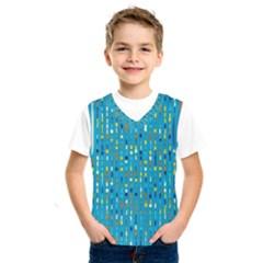Aqua Blue Artsy Beaded Weave Pattern Kids  Sportswear by SpinnyChairDesigns