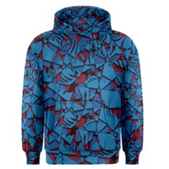 Red Blue Abstract Grunge Pattern Men s Core Hoodie